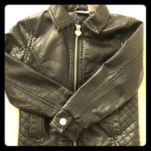 Amy Coe kid's faux leather jacket
